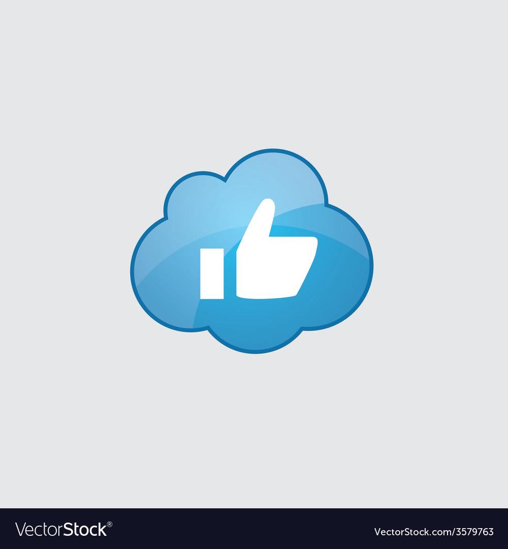 Blue cloud ok icon vector | Price: 1 Credit (USD $1)