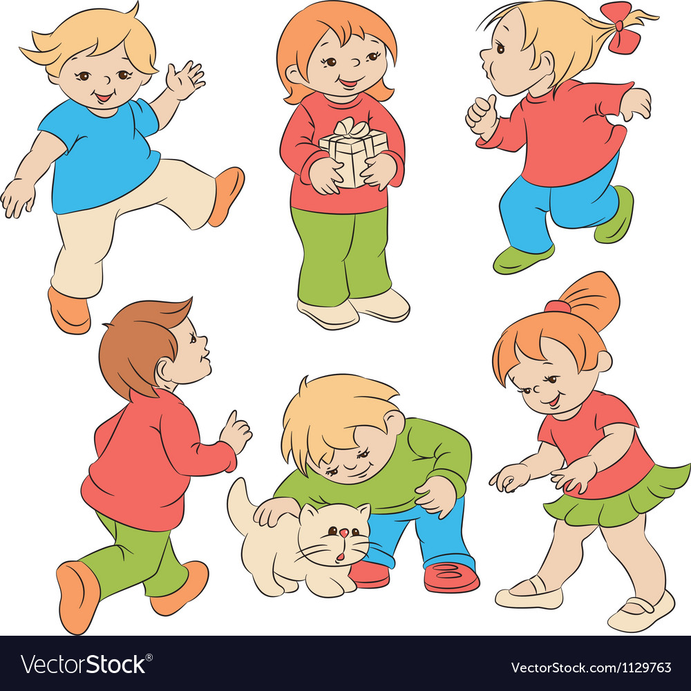 Children vector | Price: 3 Credit (USD $3)