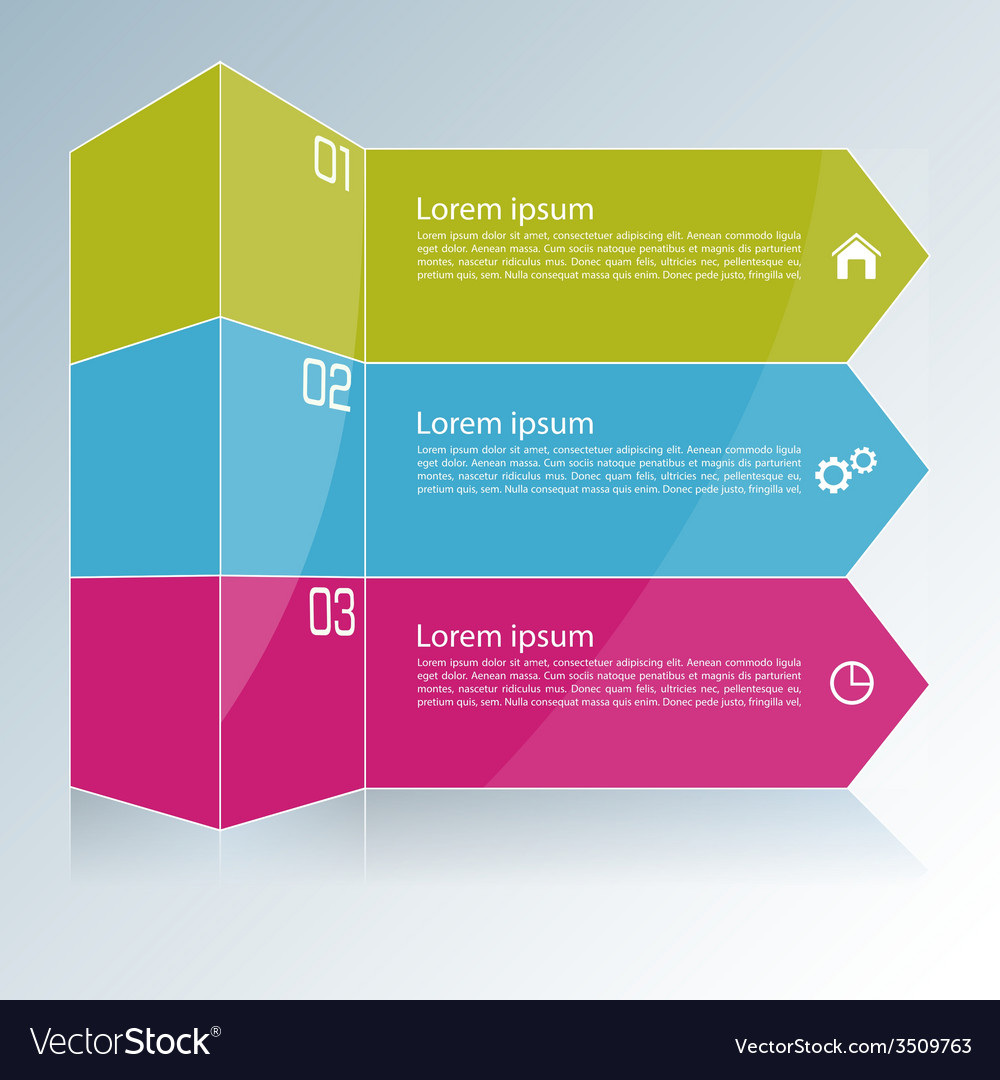 Modern template with colored column divided into vector | Price: 1 Credit (USD $1)