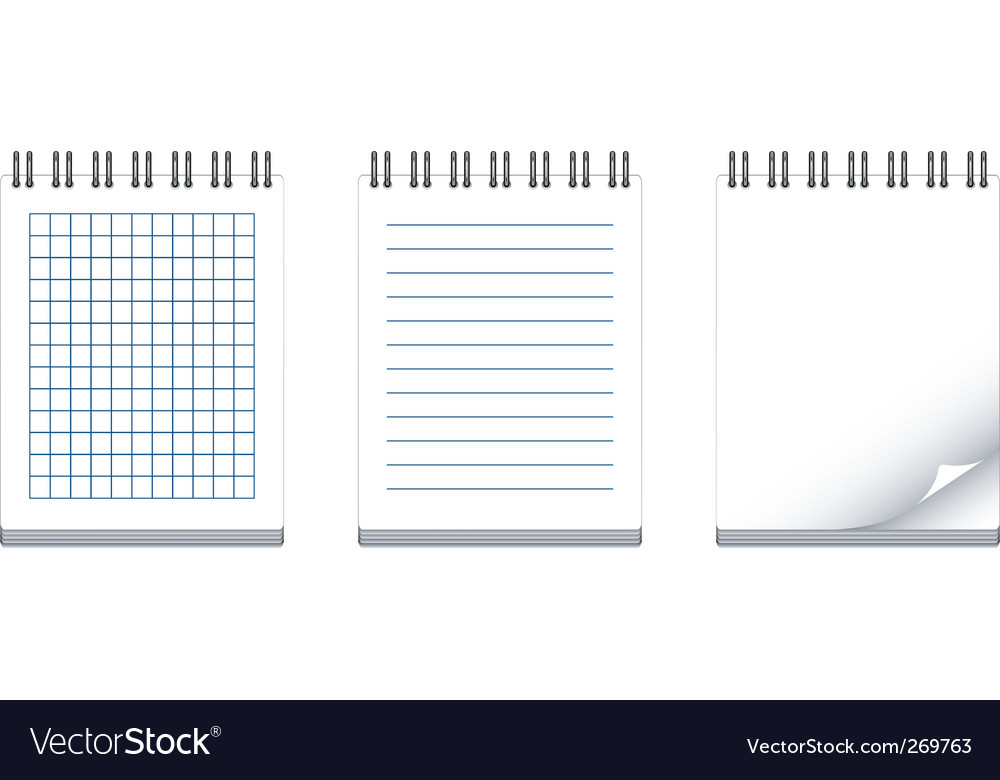 Note books vector | Price: 1 Credit (USD $1)