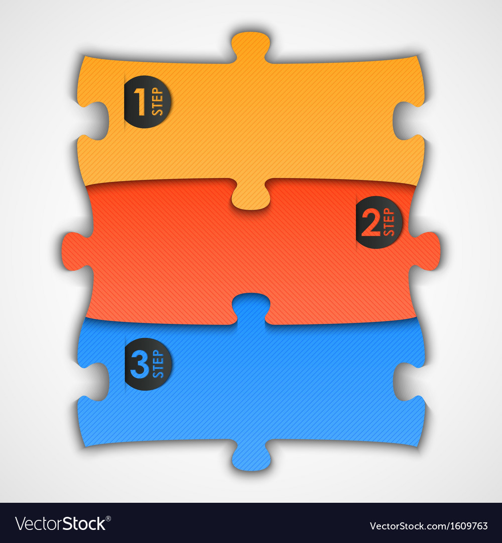 Puzzle step background vector | Price: 1 Credit (USD $1)
