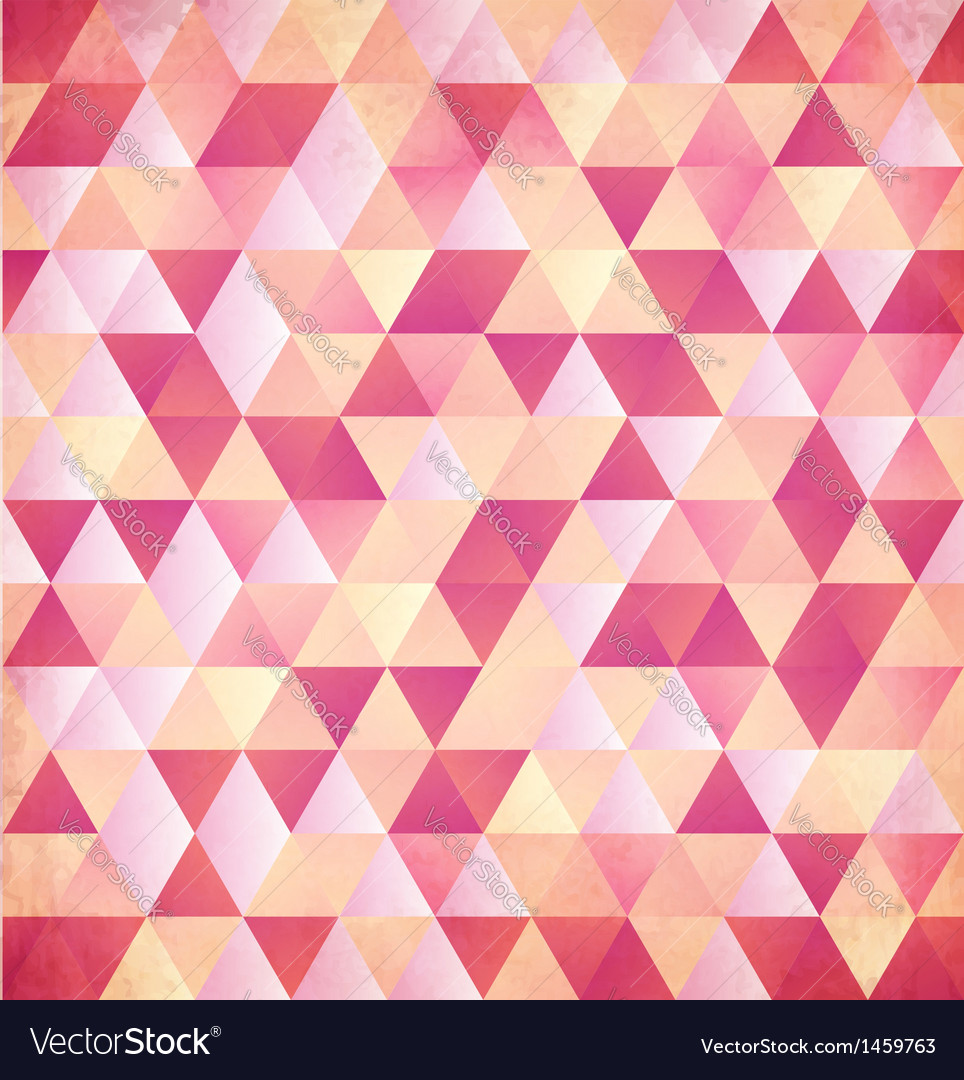 Red abstract triangle vintage background vector | Price: 1 Credit (USD $1)