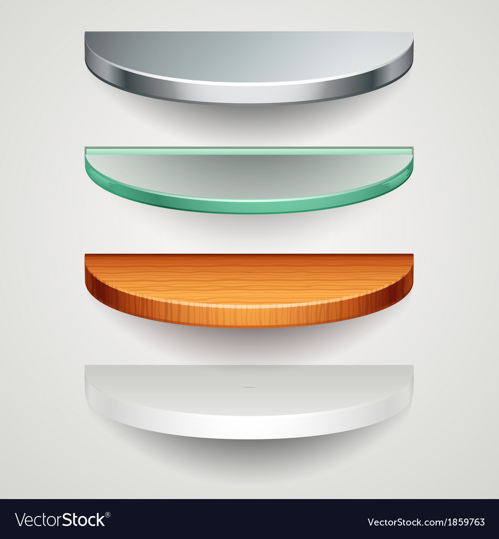 Round shelves vector | Price: 1 Credit (USD $1)