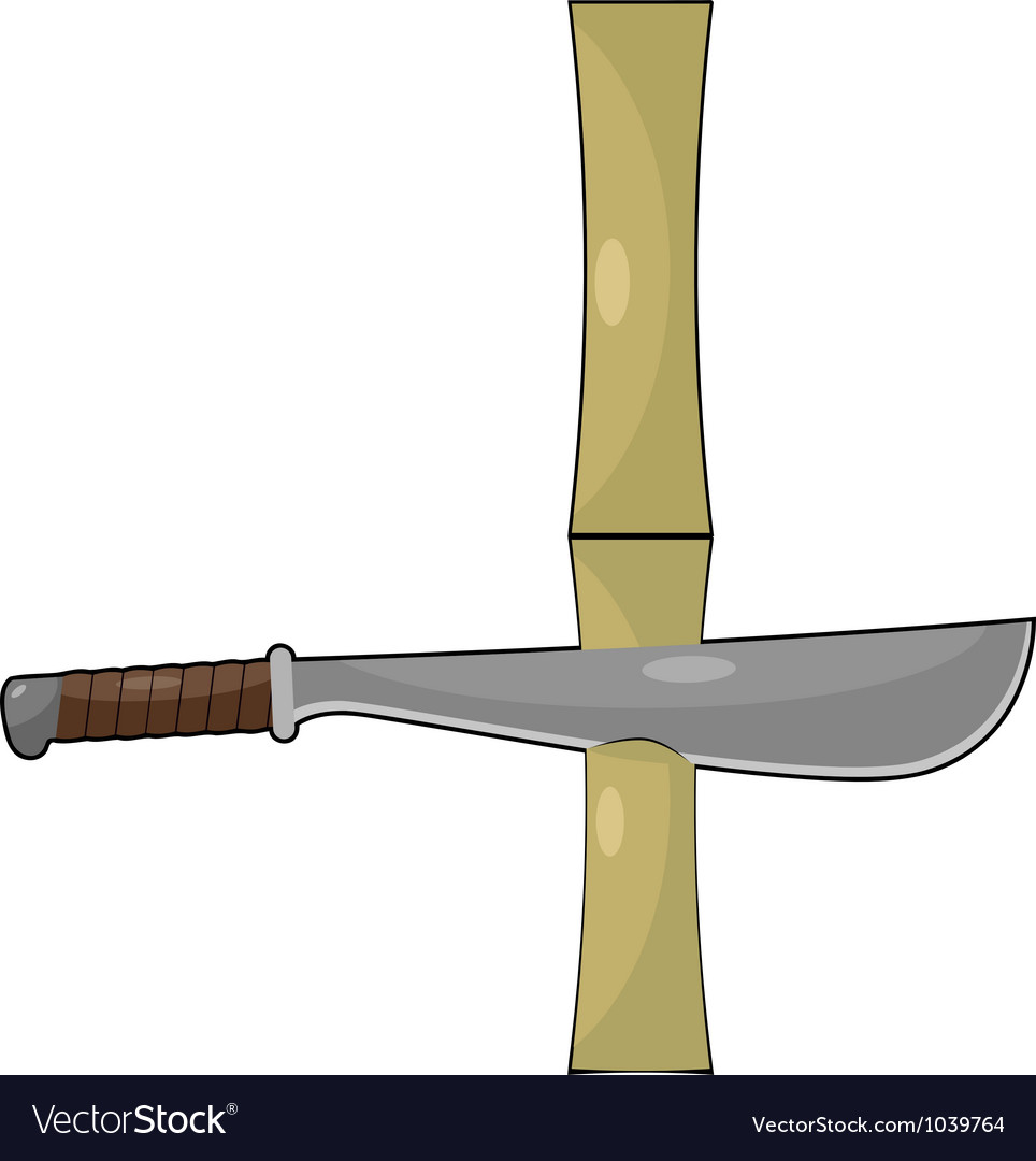 Bamboo and machetes vector | Price: 1 Credit (USD $1)