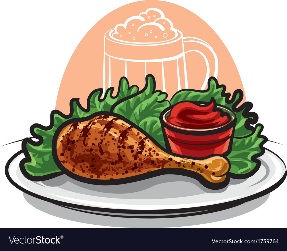Chicken leg vector | Price: 1 Credit (USD $1)