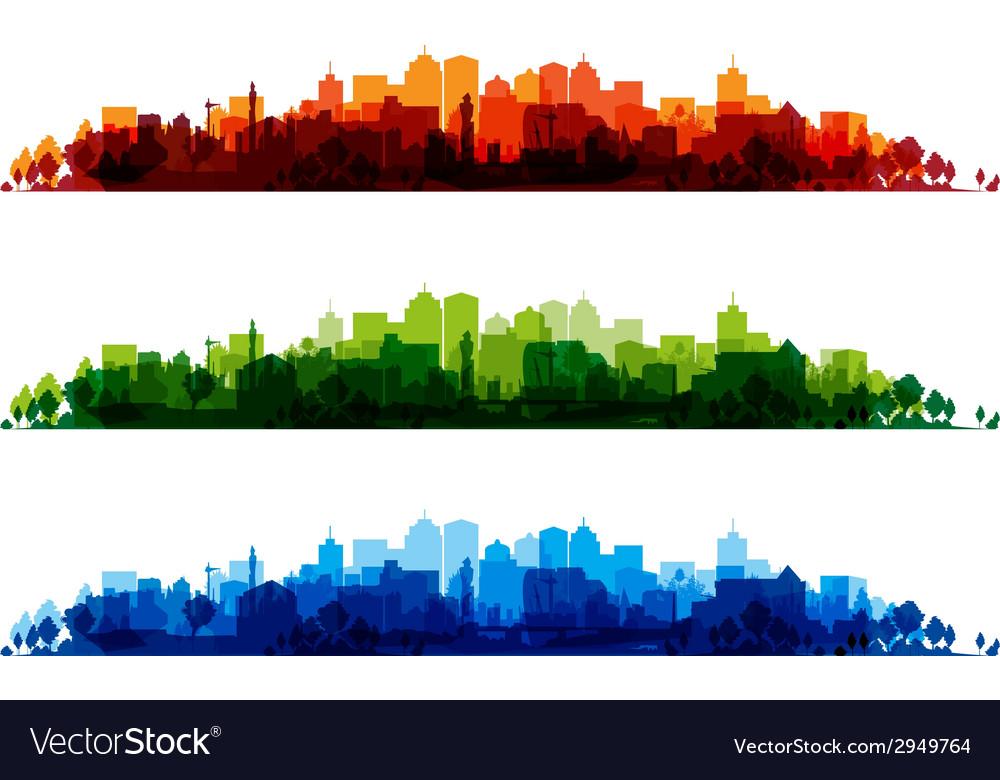 Cityscape overprint vector | Price: 1 Credit (USD $1)