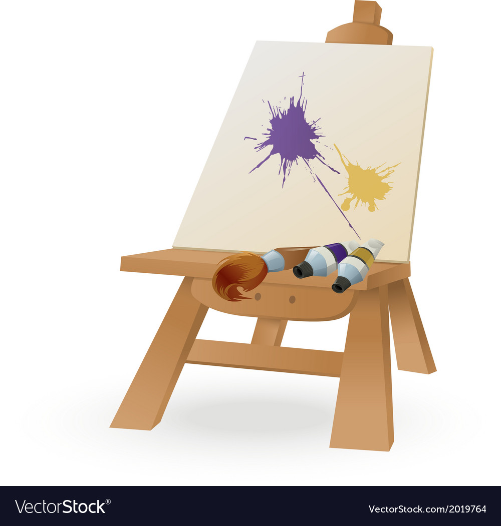 Easel vector | Price: 1 Credit (USD $1)