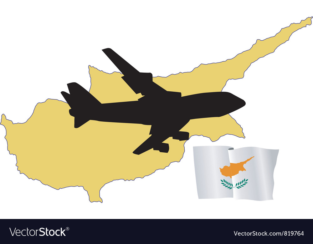 Fly me to the cyprus vector | Price: 1 Credit (USD $1)