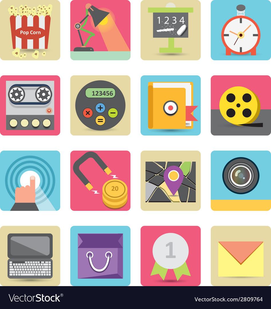Fresh icons set vector | Price: 1 Credit (USD $1)