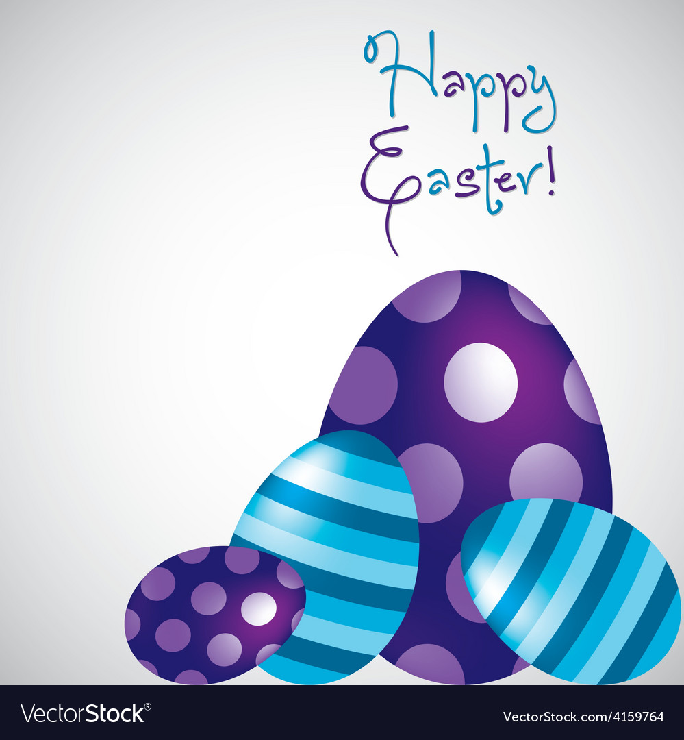 Happy easter egg card in format vector | Price: 1 Credit (USD $1)