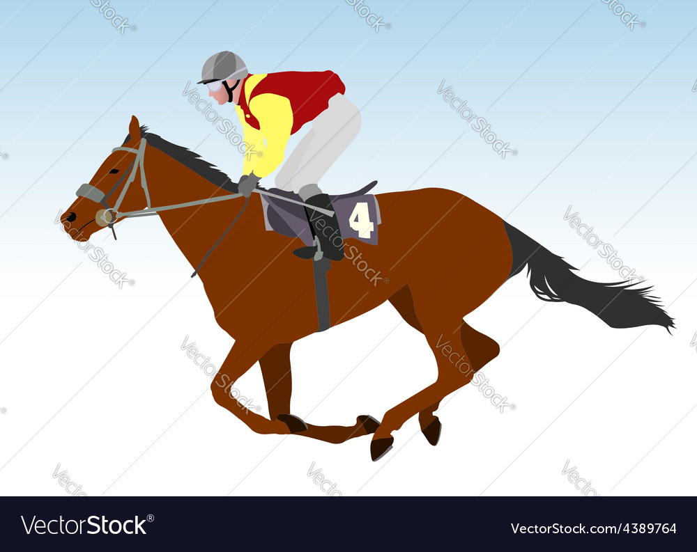 Jockey vector | Price: 1 Credit (USD $1)