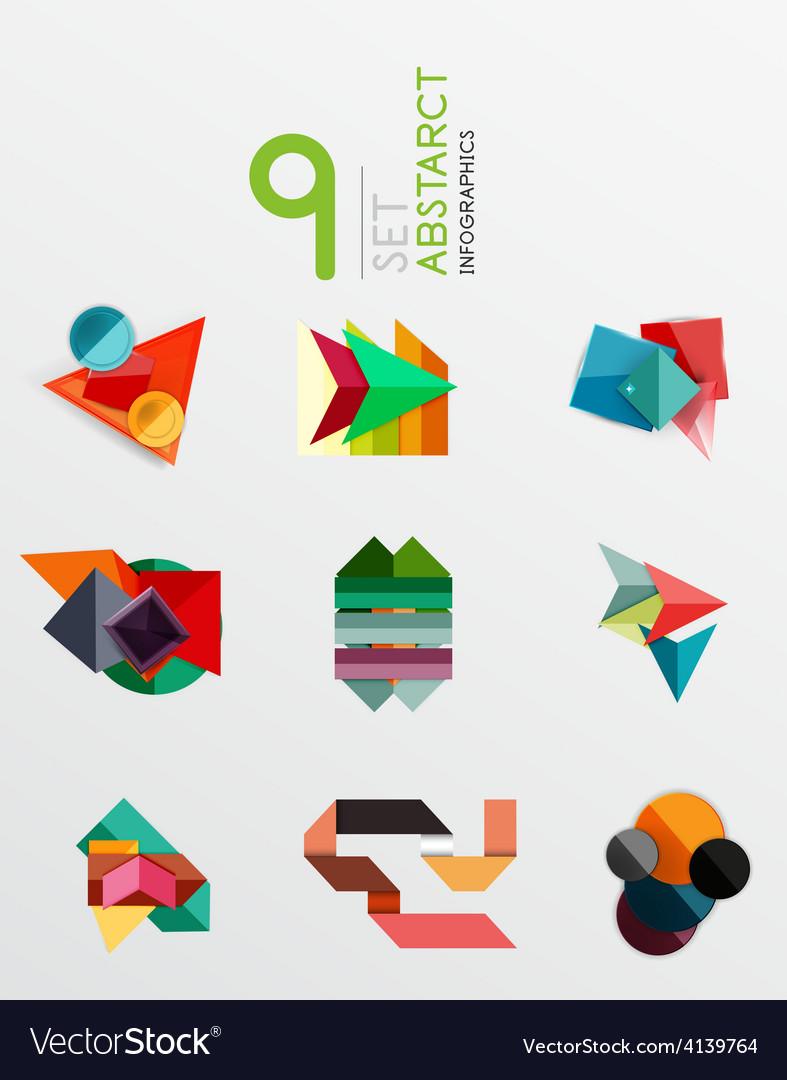 Modern paper info banner layout set vector | Price: 1 Credit (USD $1)