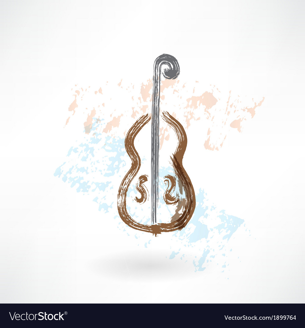 Music cello grunge icon vector | Price: 1 Credit (USD $1)