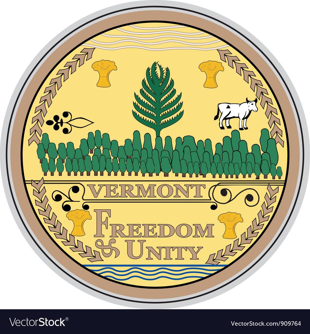 Vermont seal vector | Price: 1 Credit (USD $1)