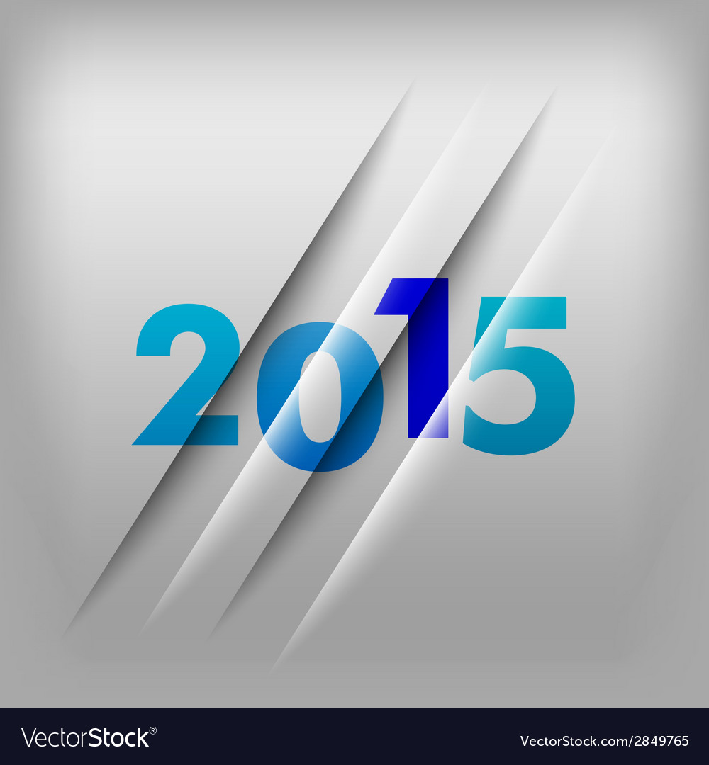 2015 numbers blue vector | Price: 1 Credit (USD $1)