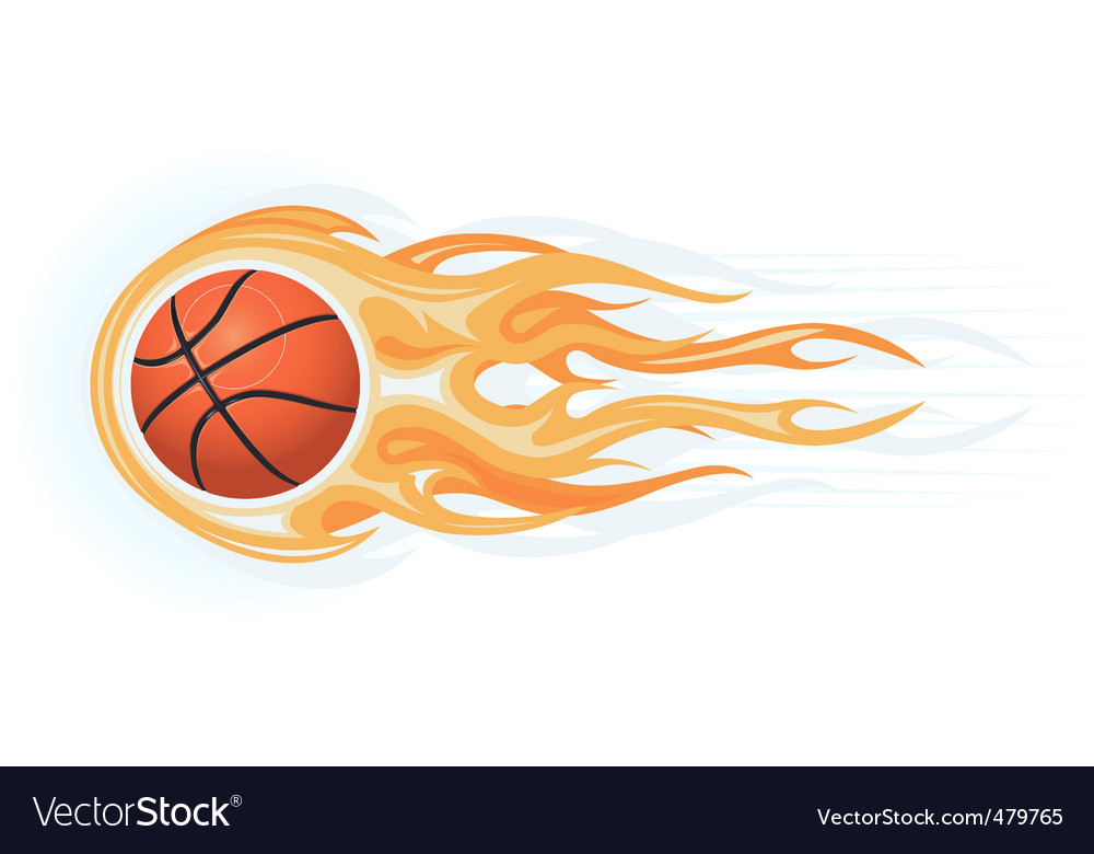 Basketball ball flame vector | Price: 1 Credit (USD $1)
