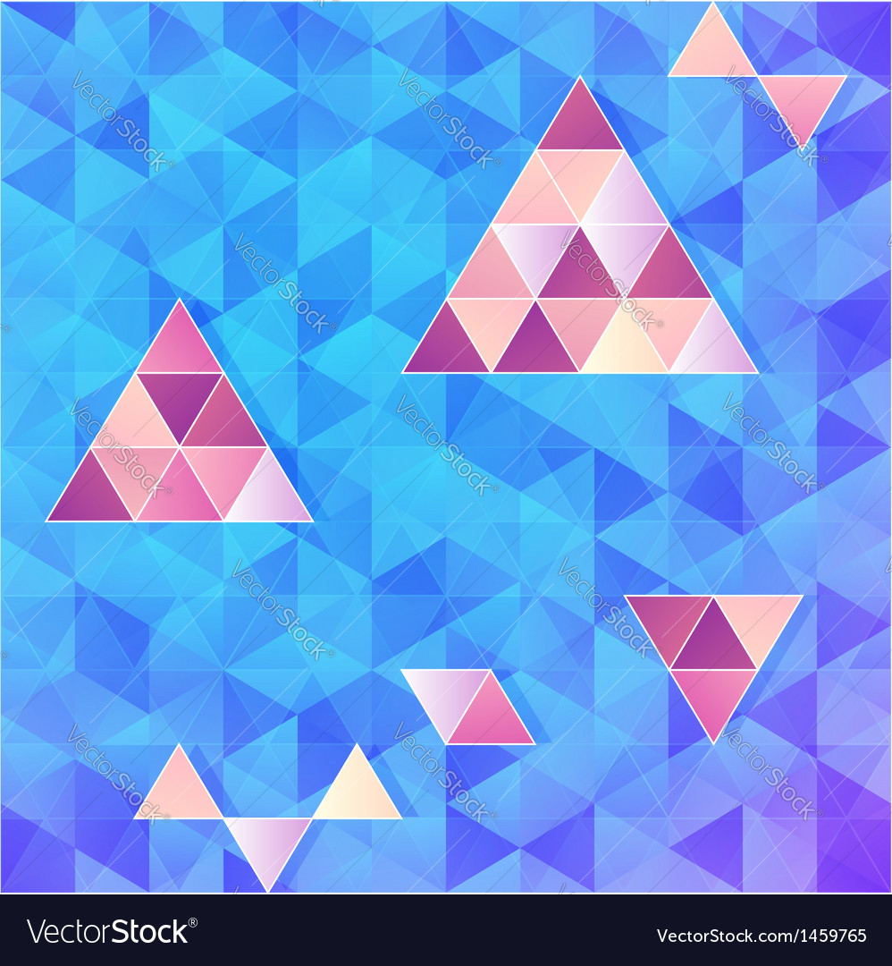 Blue and pink triangles background vector   Price: 1 Credit (USD $1)