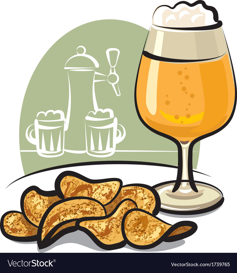 Chips with beer vector | Price: 1 Credit (USD $1)