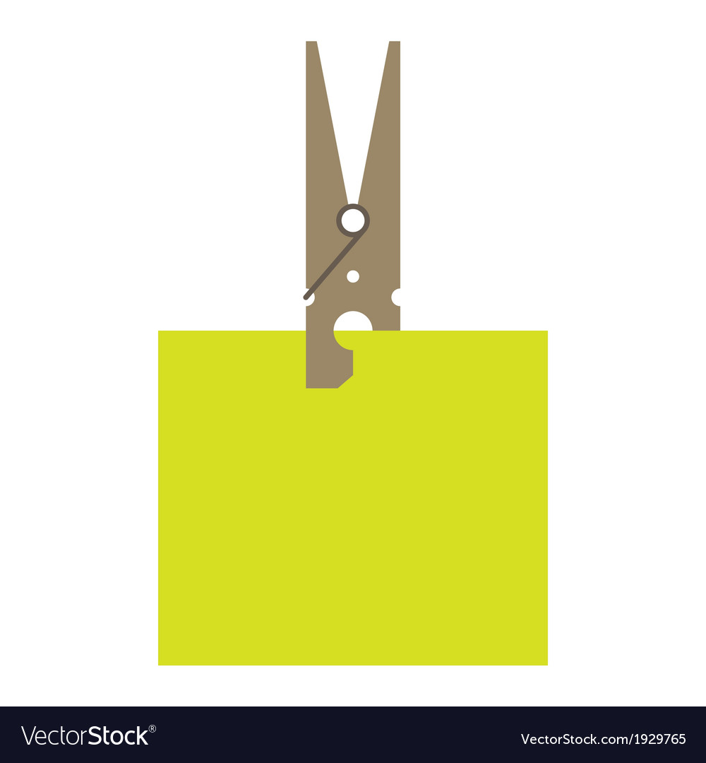Clothes peg and reminder note vector | Price: 1 Credit (USD $1)