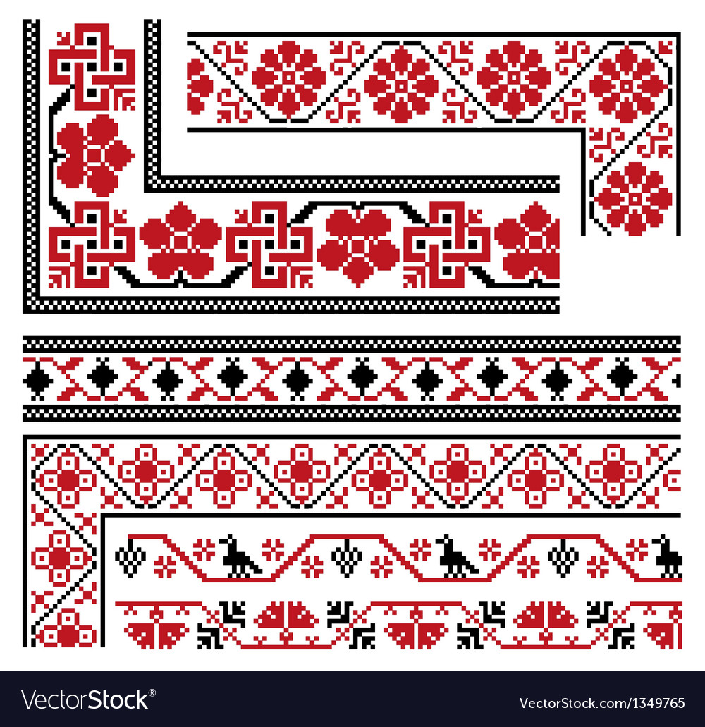 Collection of national ornaments vector   Price: 1 Credit (USD $1)