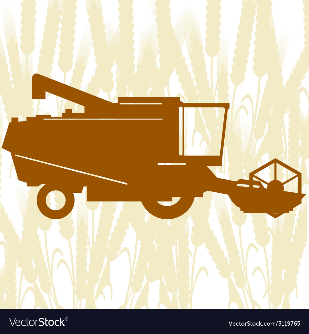 Combine harvester-1 vector | Price: 1 Credit (USD $1)