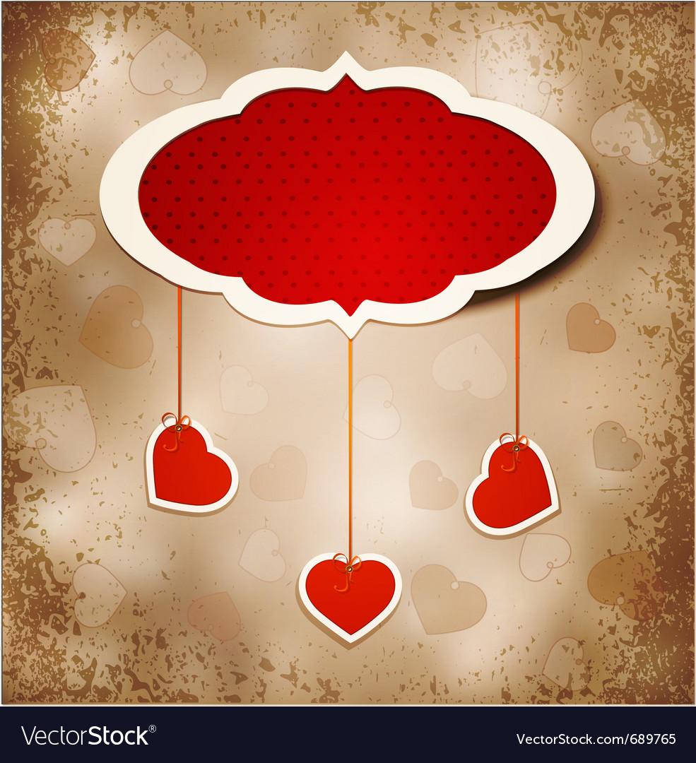 Grunge romantic vintage background vector | Price: 1 Credit (USD $1)
