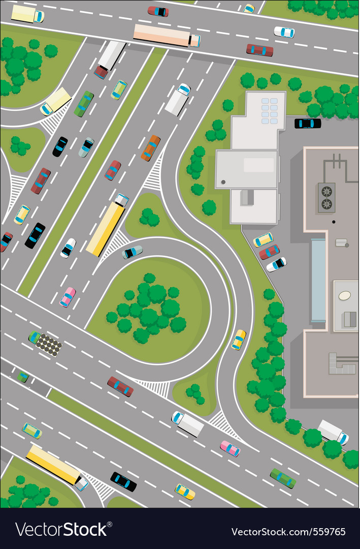 Highway intersection vector | Price: 1 Credit (USD $1)