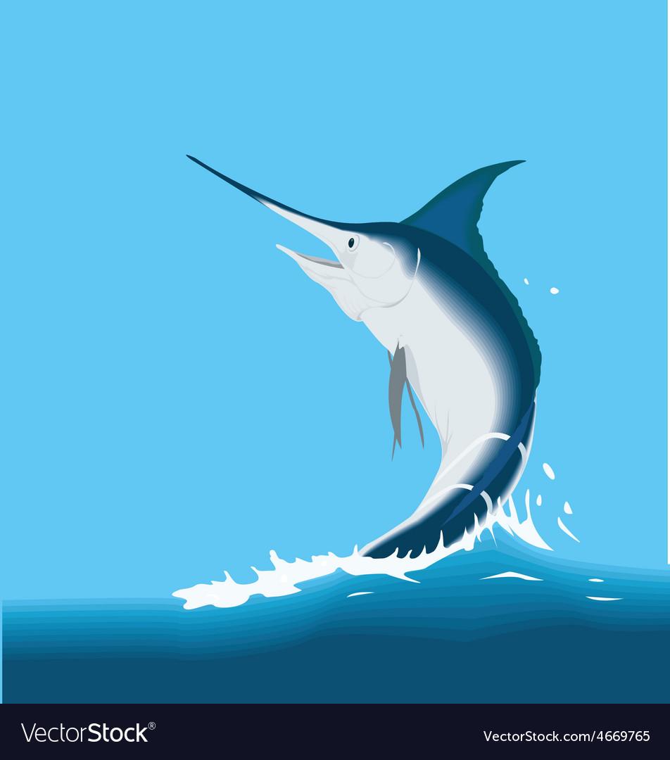 Jumping sailfish marlin fish vector | Price: 1 Credit (USD $1)