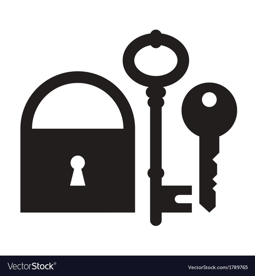 Padlock and keys vector | Price: 1 Credit (USD $1)