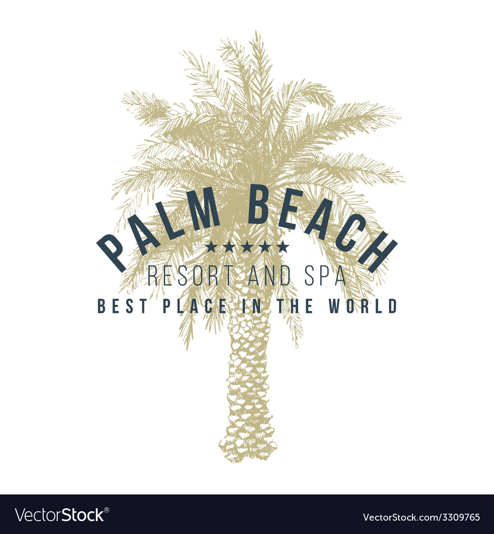 Palm beach logo template vector | Price: 1 Credit (USD $1)