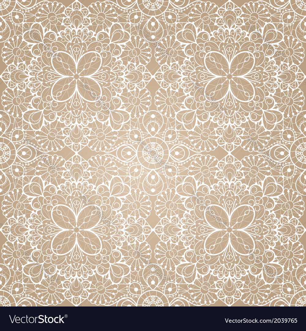 Seamless lace background vector | Price: 1 Credit (USD $1)