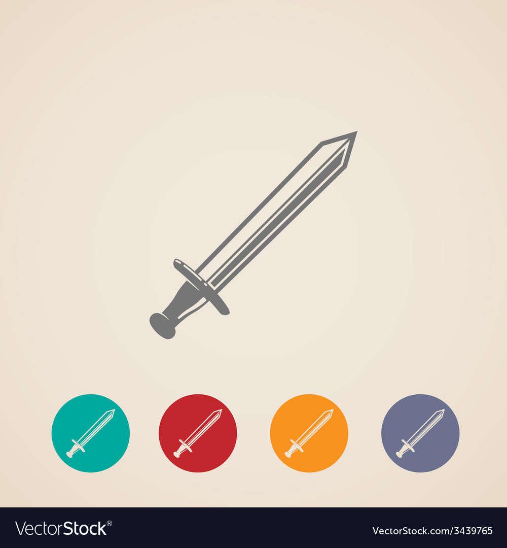 Set of sword icons vector | Price: 1 Credit (USD $1)