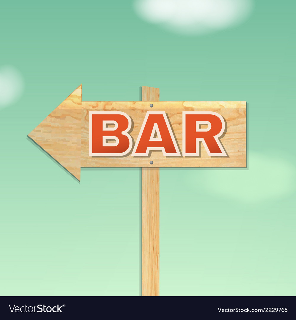 Vintage beach bar sign vector | Price: 1 Credit (USD $1)