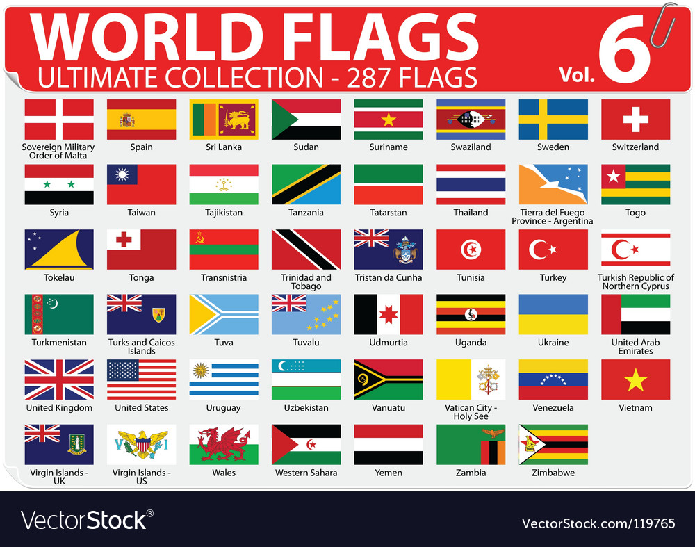 World flags  ultimate collection vector