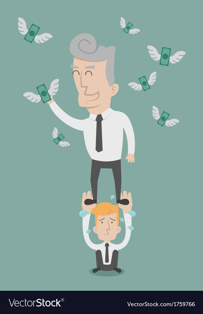 Business man working as a team to grab the money vector | Price: 1 Credit (USD $1)