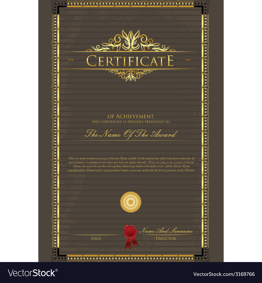 Certificate grunge vector | Price: 1 Credit (USD $1)