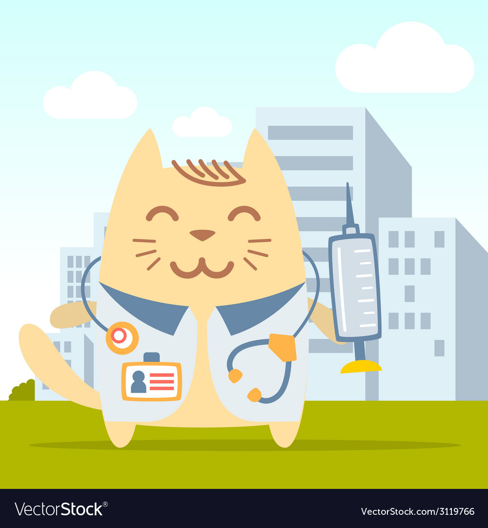 Character doctor in medical coat with a vector | Price: 1 Credit (USD $1)