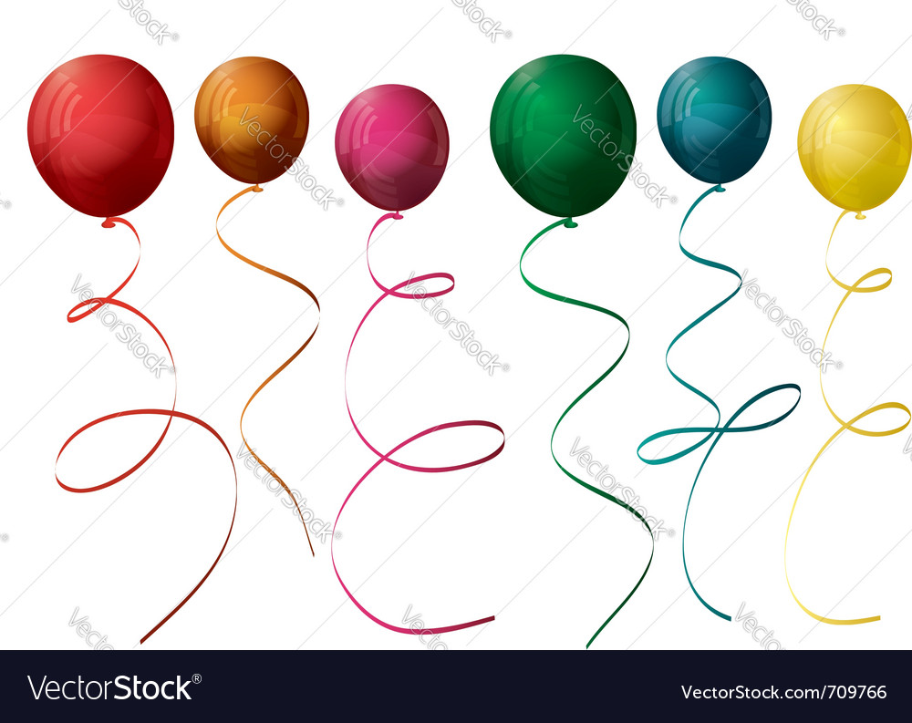 Colorful balloons vector   Price: 1 Credit (USD $1)