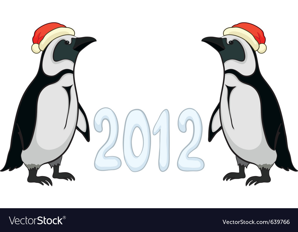 Emperor penguins 2012 vector | Price: 1 Credit (USD $1)