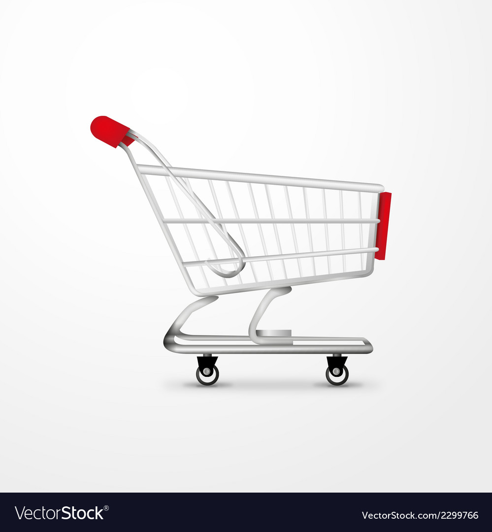 Empty shopping cart vector | Price: 1 Credit (USD $1)