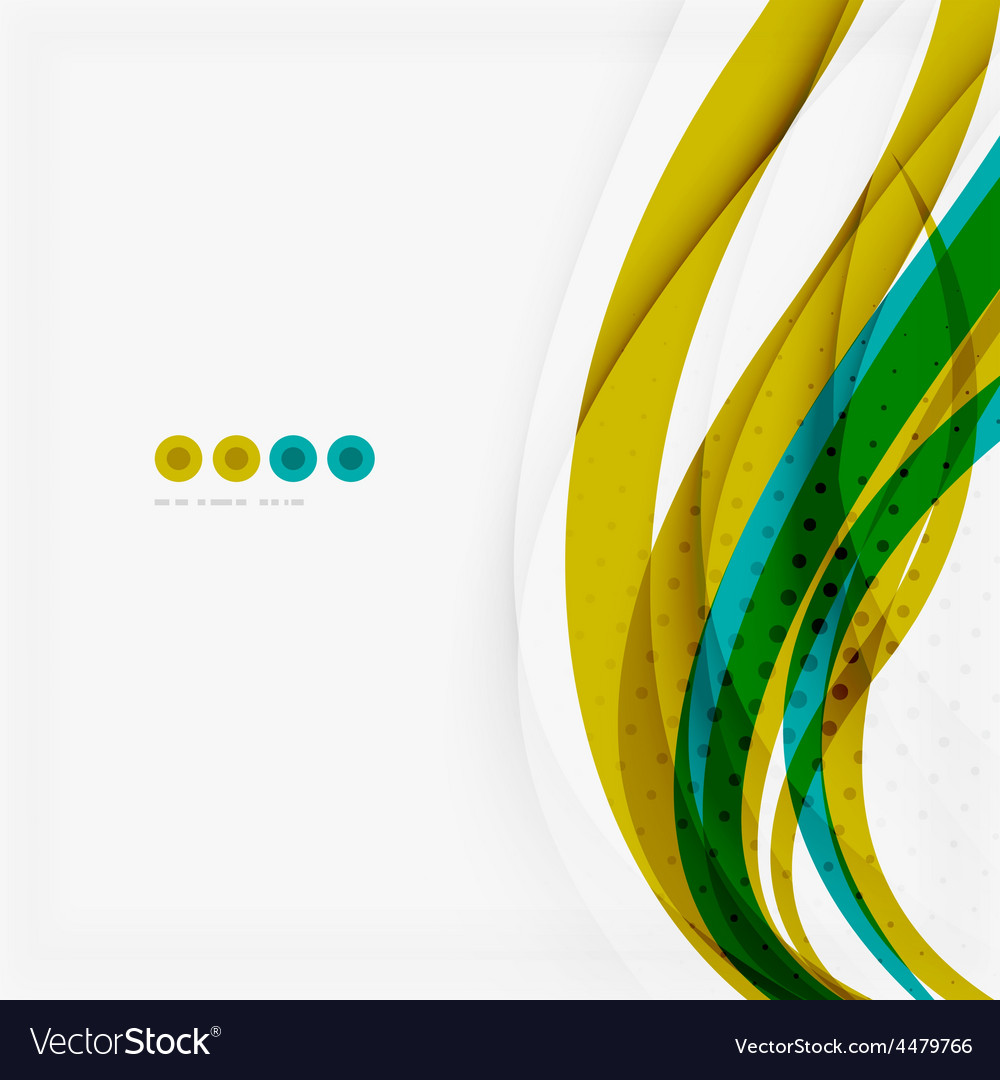 Green blue wave lines vector | Price: 1 Credit (USD $1)