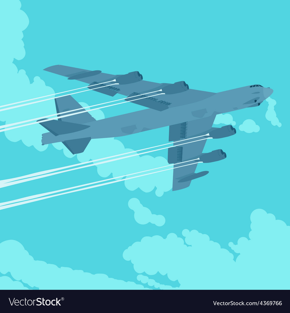 Heavy bomber in the sky vector | Price: 1 Credit (USD $1)
