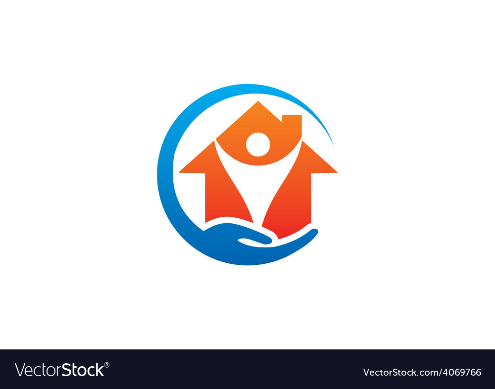 Home care protection logo vector | Price: 1 Credit (USD $1)