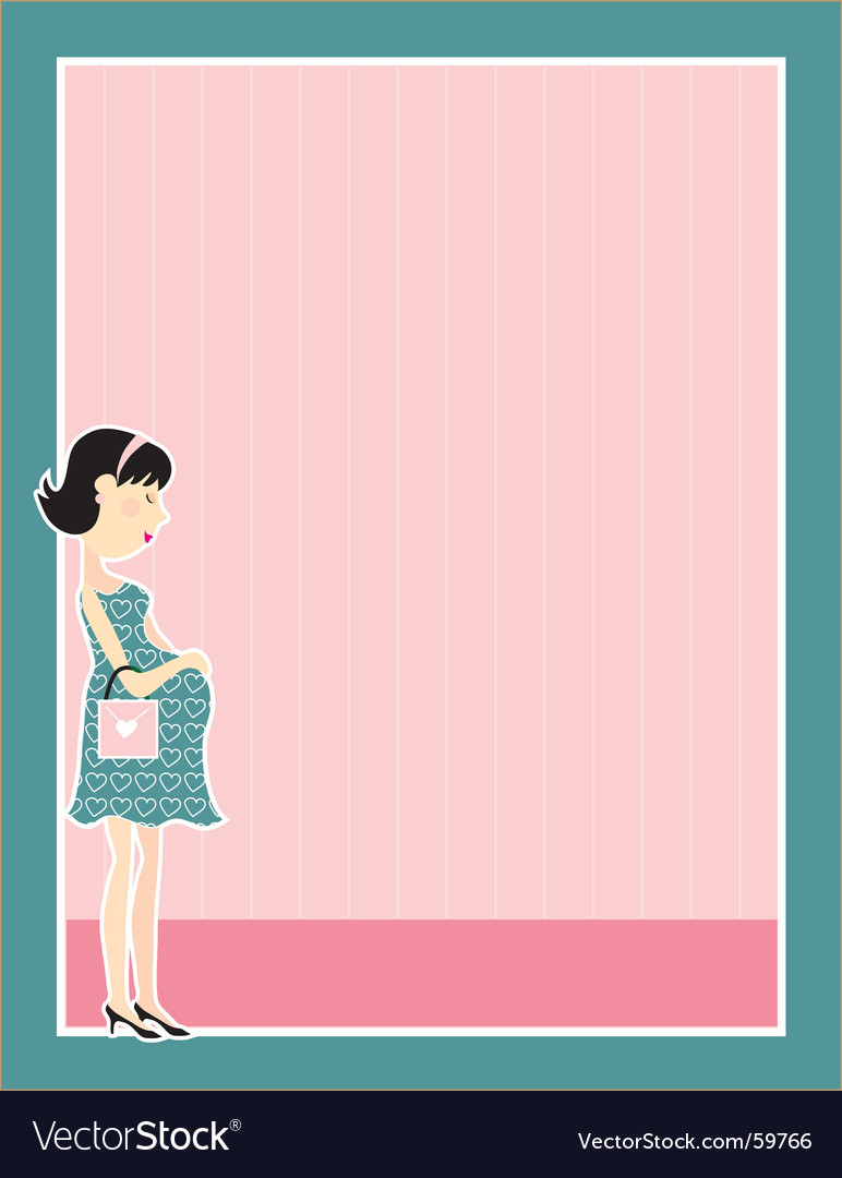 Pregnant woman border vector | Price: 1 Credit (USD $1)