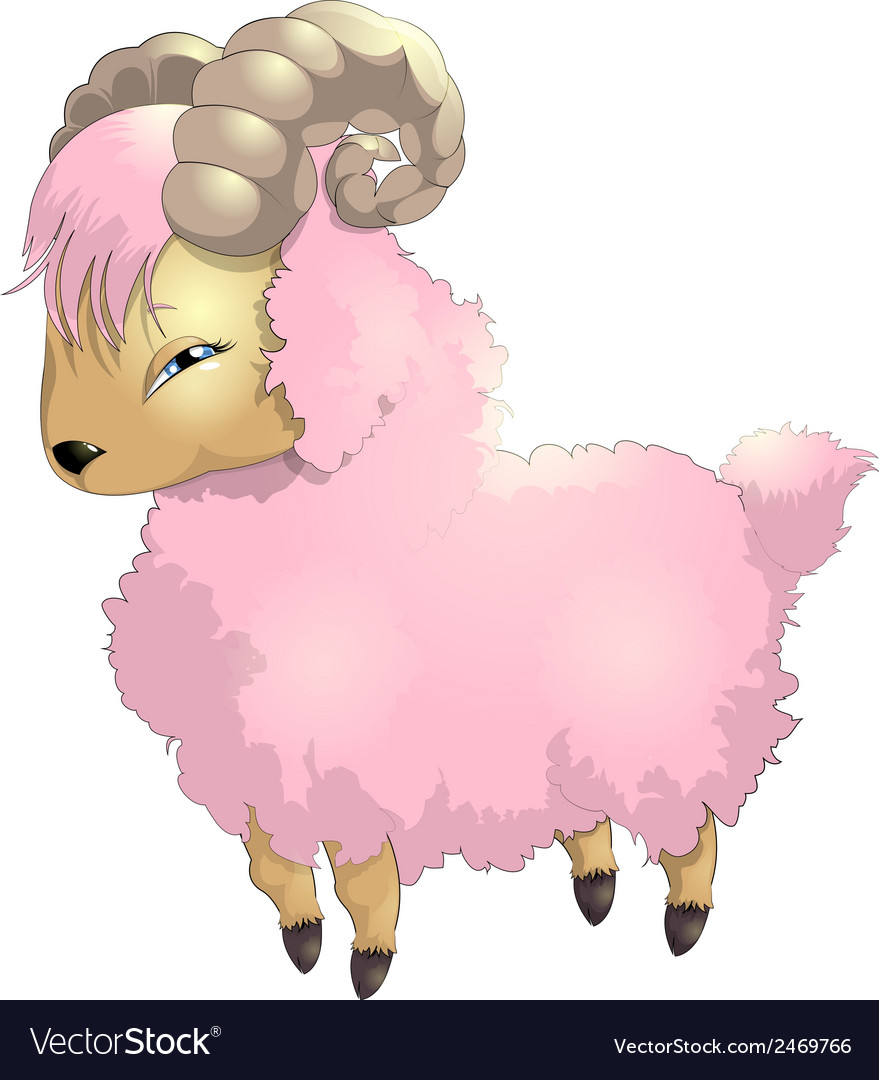 Sheep pink vector | Price: 1 Credit (USD $1)
