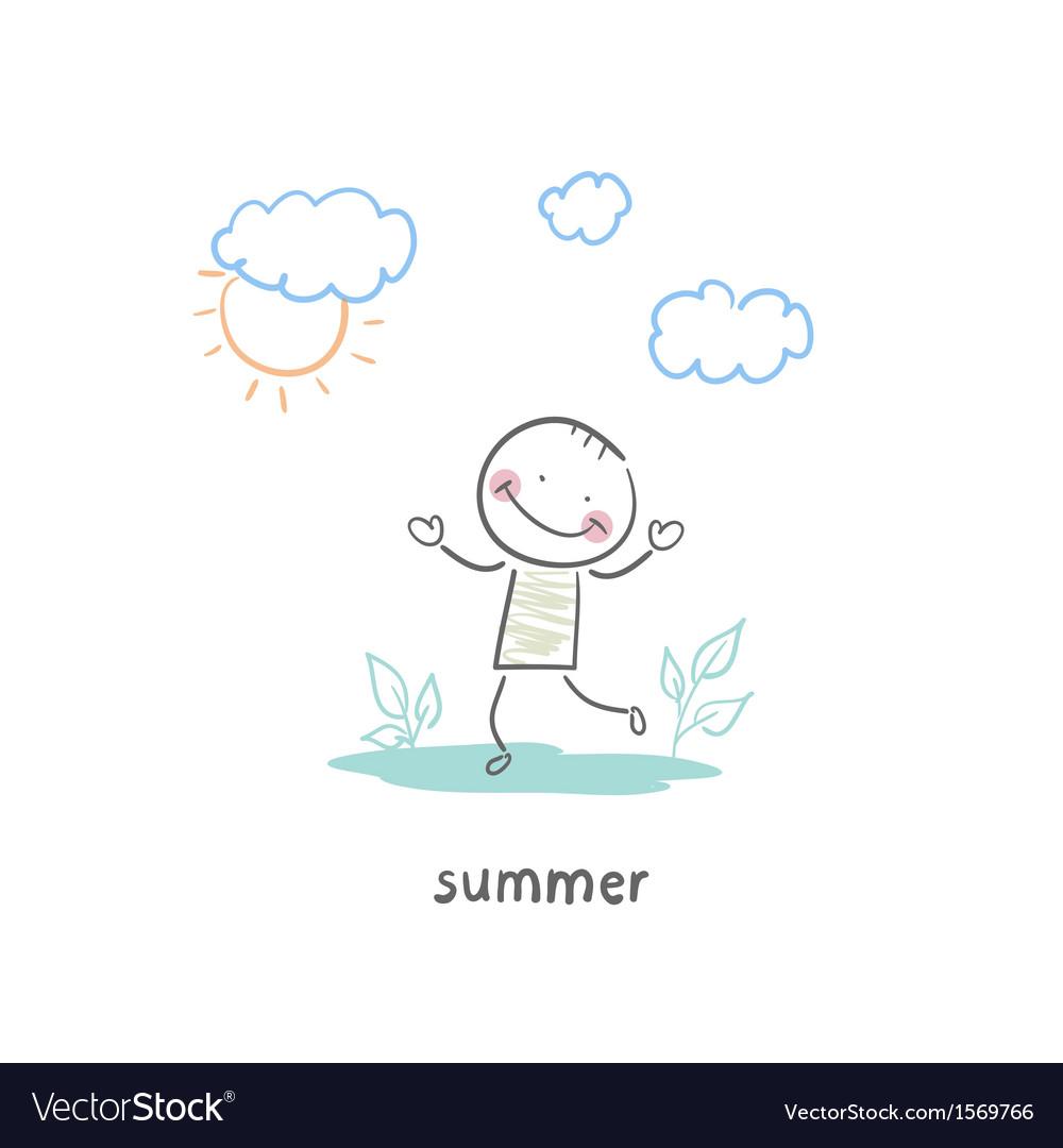 Summer walk vector | Price: 1 Credit (USD $1)