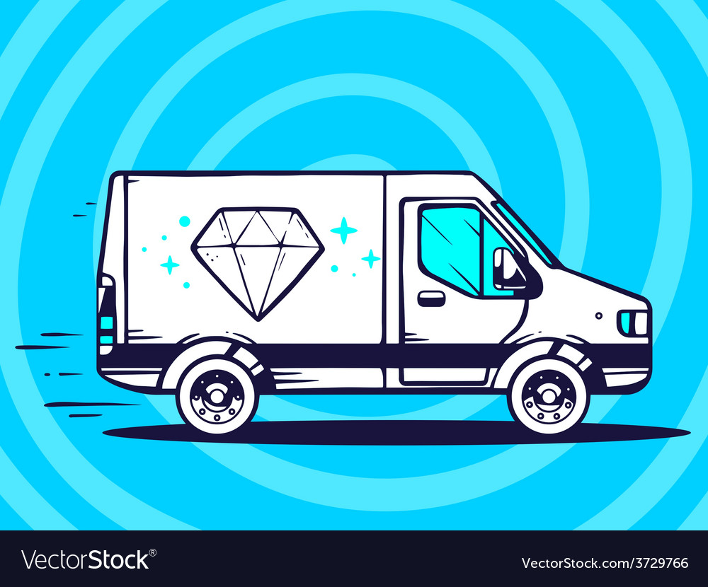 Van free and fast delivering diamond to c vector | Price: 1 Credit (USD $1)