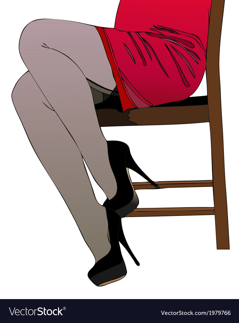 Woman sitting on a chair vector | Price: 1 Credit (USD $1)
