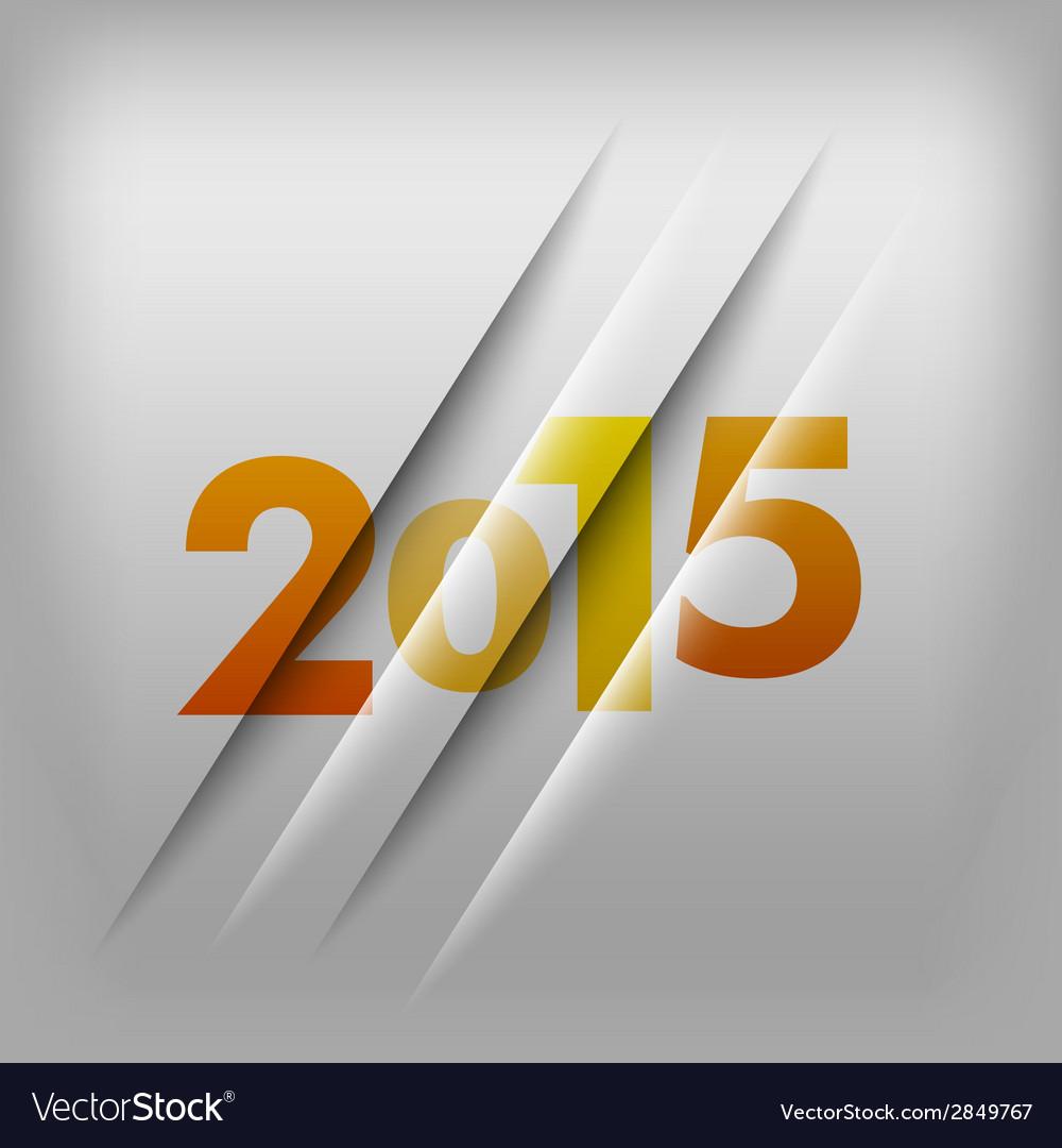 2015 numbers orange vector | Price: 1 Credit (USD $1)