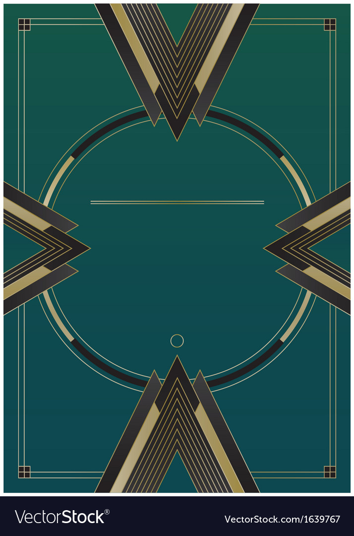 Arrows art deco background vector | Price: 1 Credit (USD $1)